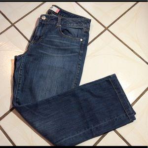 Cabi distressed straight leg jeans size 10